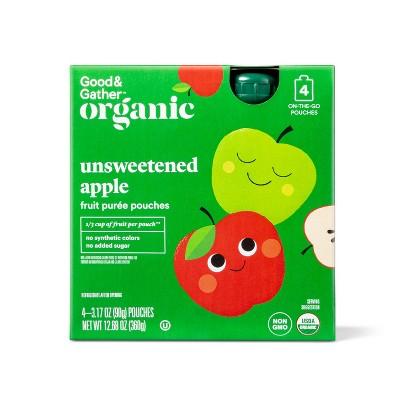 Organic Unsweetened Applesauce Fruit Squeezers - 4ct - Good & Gather™