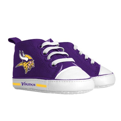 NFL Minnesota Vikings Baby High Top Sneakers - 0-6M
