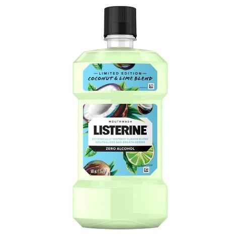Listerine Coconut Lime Splash Zero Mouthwash - 16.9 fl oz - image 1 of 4