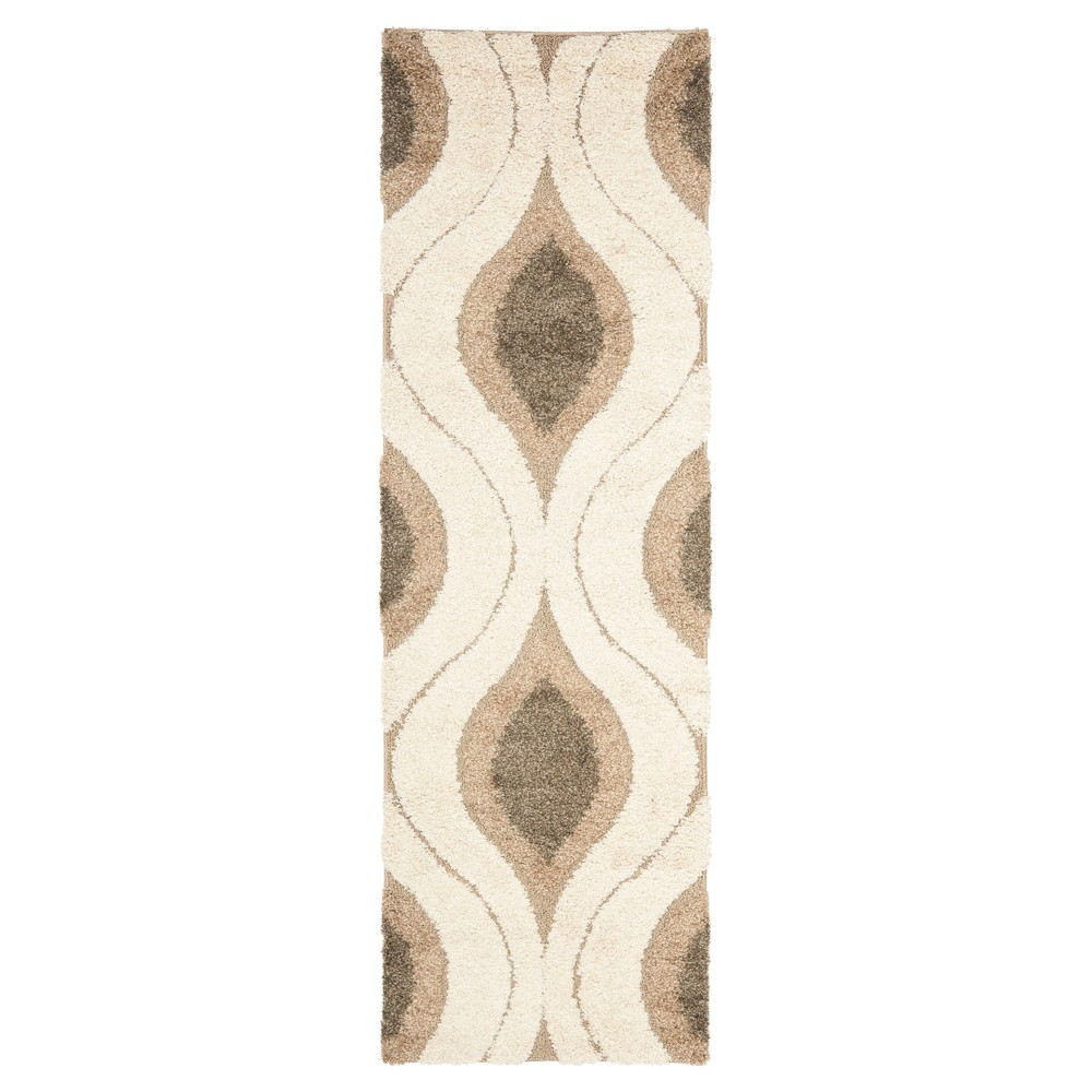 Cream/Smoke Solid Tufted Runner - (2'3X8' Runner) - Safavieh, Gray Off-White