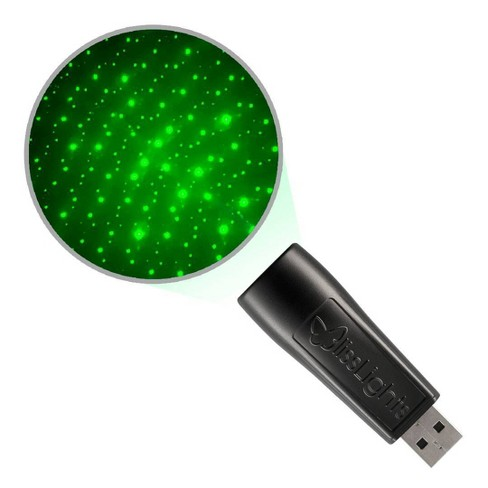 USB Laser Light Star Projector Green - BlissLights - image 1 of 3