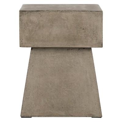Zen Square Mushroom Concrete Accent Table - Safavieh®