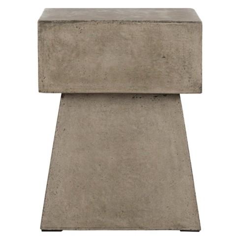 Zen Square Mushroom Concrete Accent Table - Safavieh® - image 1 of 4
