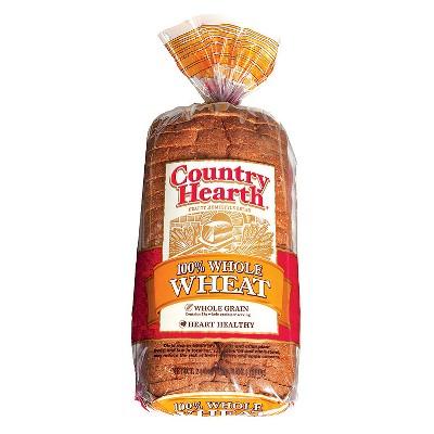 Country Hearth 100% Whole Wheat Bread - 24oz