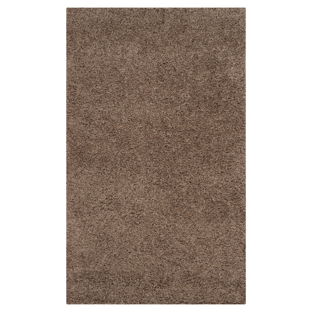Taupe (Brown) Solid Loomed Area Rug - (4'x6') - Safavieh