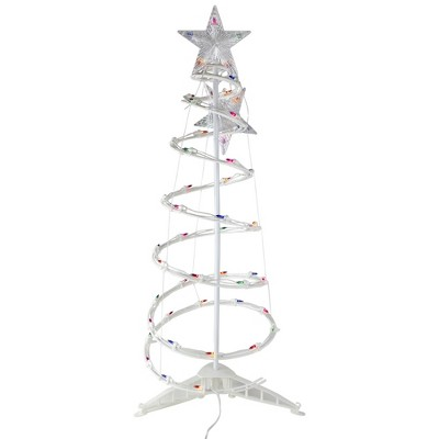 Northlight 3' Pre-Lit Spiral Christmas Tree - Multi Color Lights