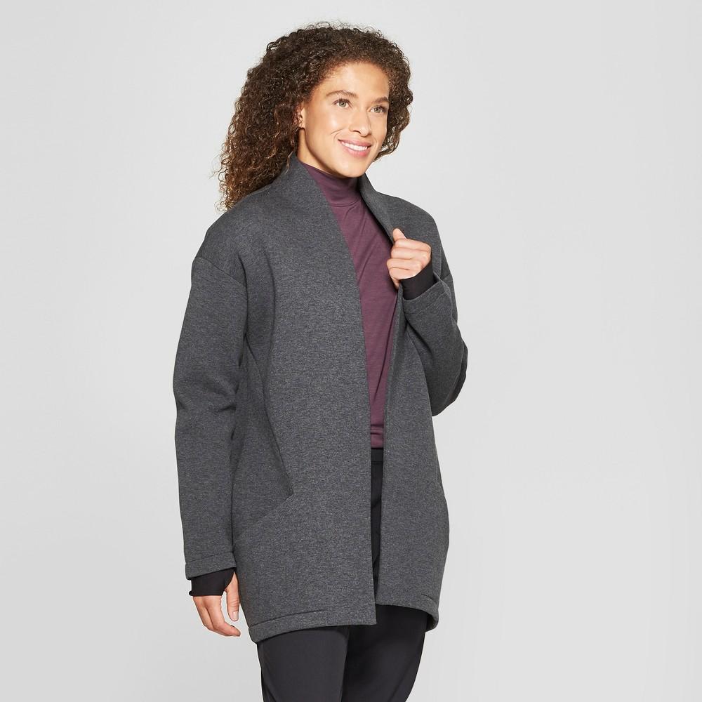 Mpg Sport Women's Cocoon Fleece Jacket - Charcoal Gray Heather S, Grey Heather