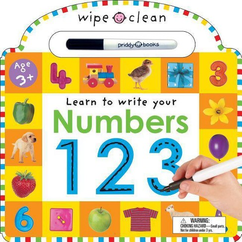 Numbers 1 2 3 - (Wipe Clean: Learn to Write) by  Roger Priddy (Mixed media product) - image 1 of 1