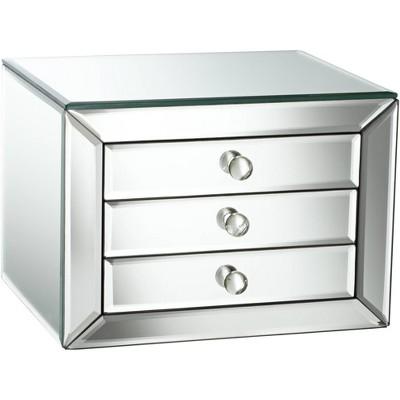 Studio 55D Mirrored Glass 3-Drawer Jewelry Box