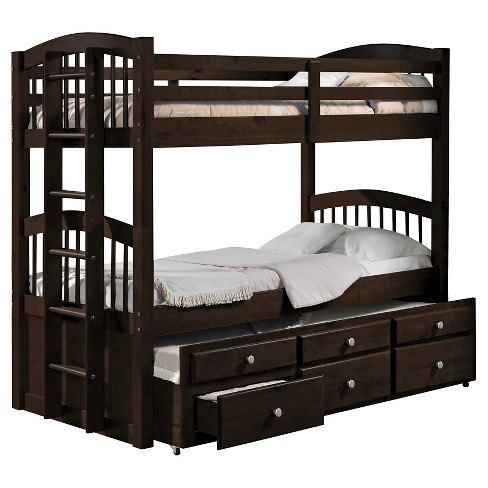 Micah Kids Bunk Bed Epsresso Twin Twin Acme Target