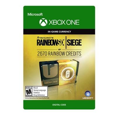 Tom Clancy's Rainbow Six Siege: 2670 Rainbow Credits - Xbox One (Digital)