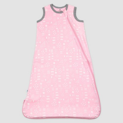Honest Baby Organic Cotton Interlock Wearable Blanket - Pattern Play Pink L