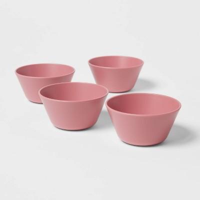 7oz 4pk Plastic Mini Bowls Coral - Room Essentials™