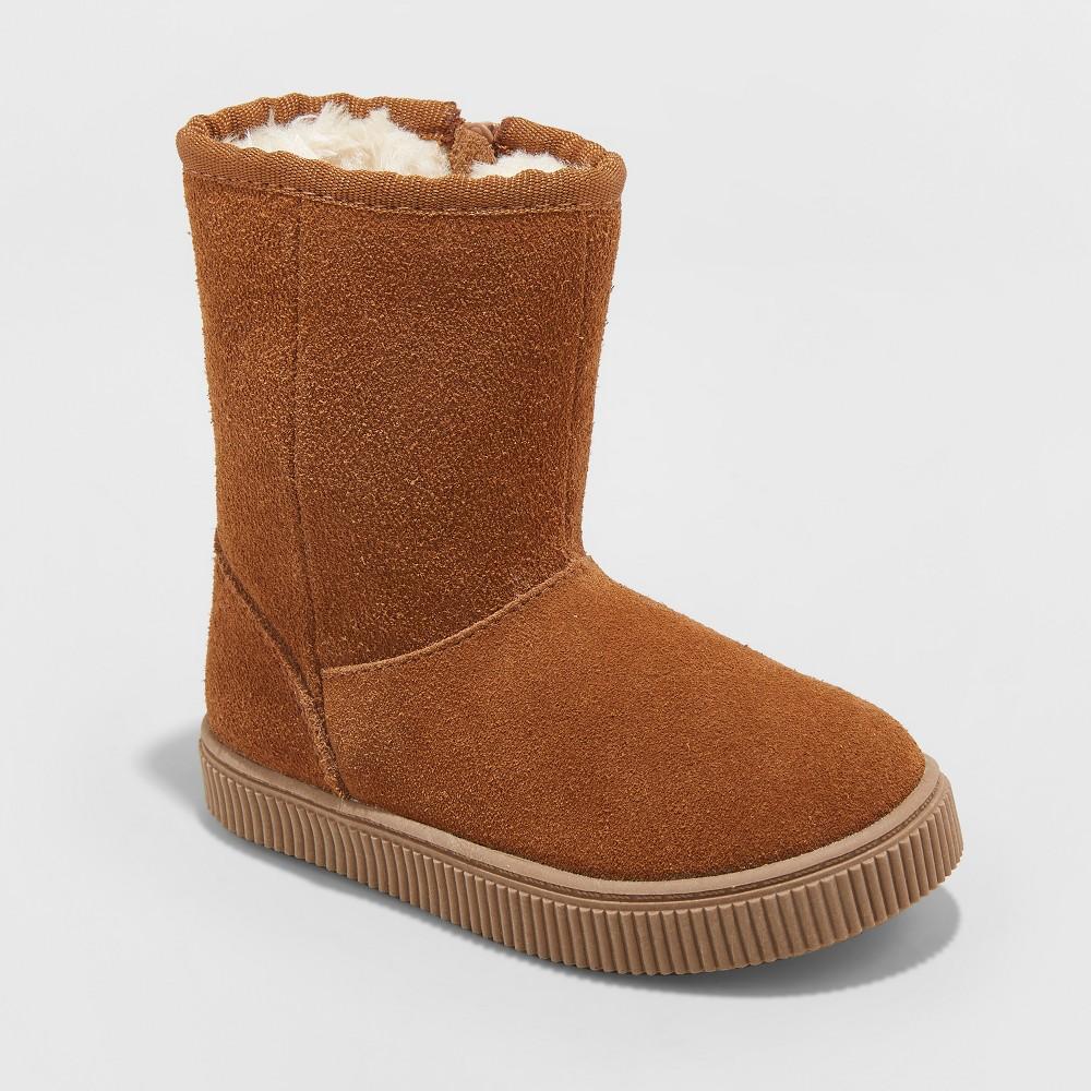 Toddler Girls' Kya Suede Ankle Fashion Boots - Cat & Jack Chestnut (Brown) 11
