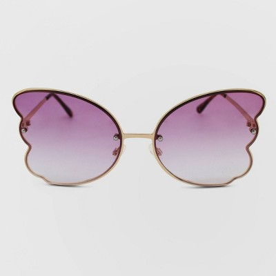 Women's Metal Butterfly Sunglasses - Wild Fable™ Gold