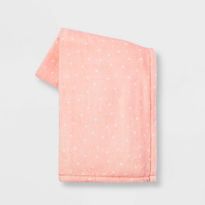 Tonal Dots Printed Easter PlushThrow Blanket Blush - Spritz™
