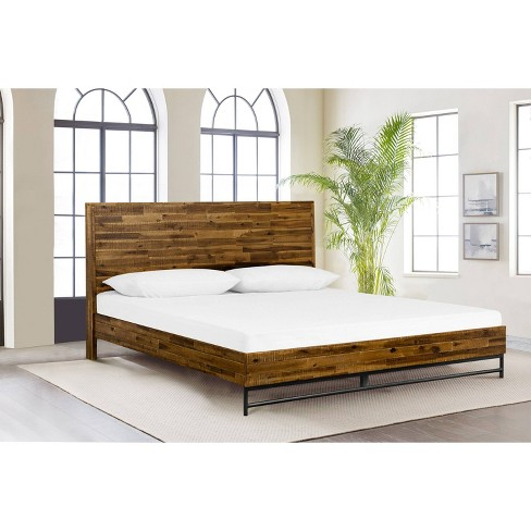 Cusco Rustic Acacia Platform Bed - Armen Living - image 1 of 4