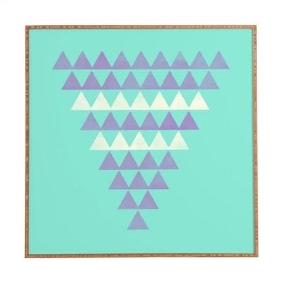 Allyson Johnson Purple Triangles Framed Wall Art by Deny Designs