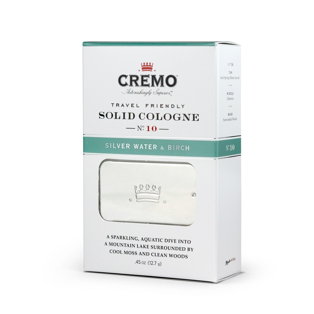 Image of Cremo Silver Water & Birch Men's Solid Cologne - .45oz