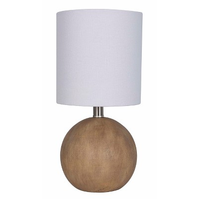 Faux Wood Table Lamp Light Brown - Threshold™