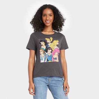 Women's Disney Princess Short Sleeve Graphic T-Shirt - Black