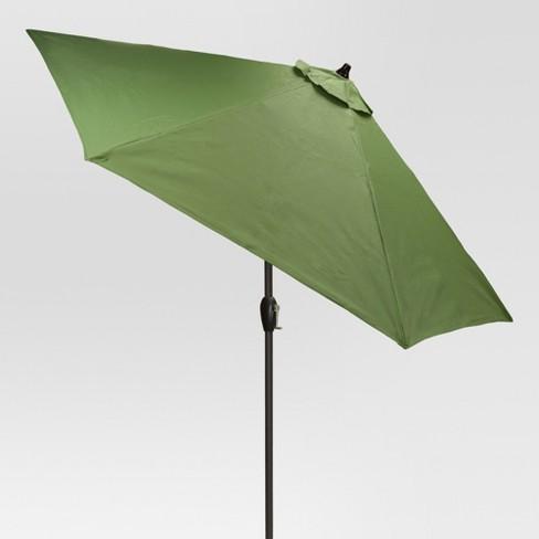 9' Round Sling Patio Umbrella Green - Threshold™ - image 1 of 1