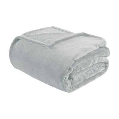 Microlight Plush Blanket (Full/(Queen)Gray