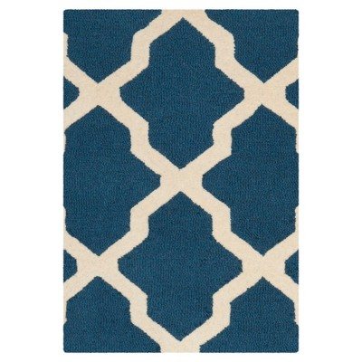 Maison Textured Rug - Navy Blue / Ivory (2'X3')- Safavieh®