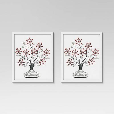 "(Set of 2) 16"" x 20"" Poster Frame White - Room Essentials™"