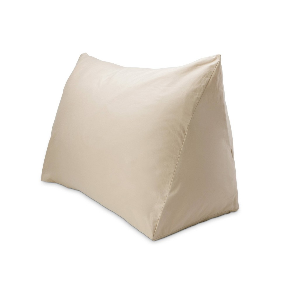 "Image of ""18"""" x 36"""" 330 Thread Count Reading Wedge Cover Driftwood - DownLite, Brown"""