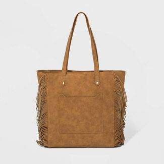 Zip Closure Hayden Tote Handbag - Universal Thread™ Cognac