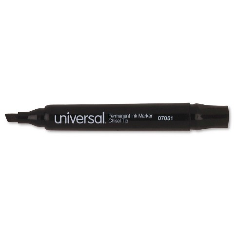 Universal® Permanent Markers, Chisel Tip, 12 ct - Black - image 1 of 1