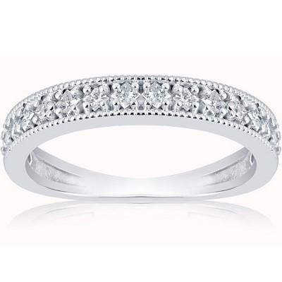 Pompeii3 1/3ct Princess Cut Diamond Wedding Ring White Gold