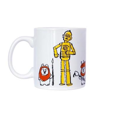 Seven20 Star Wars C-3PO & Ewoks Comic Kanji 20oz Ceramic Coffee Mug