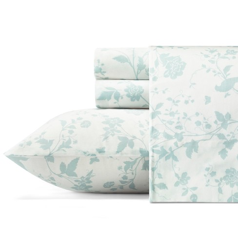 Cotton Sheet Set 300 Thread Count - Laura Ashley - image 1 of 2