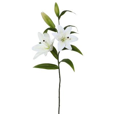 Vickerman Artificial Real Touch Tiger Lily Stem