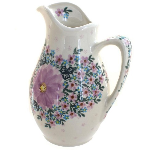 Blue Rose Polish Pottery Lilac Garden Pitcher - image 1 of 1