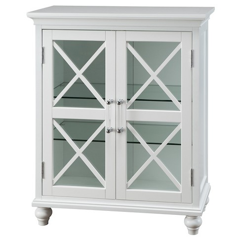 "Floor Cabinet 32"" White - Elegant Home Fashions - image 1 of 5"