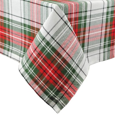 84 x60  Christmas Plaid Tablecloth Red/Green - Design Imports