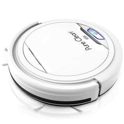 Pyle PUCRC25 PureClean Smart Automatic Robot Vacuum Compact Powerful Home Cleaning System for All Indoor Floor Surfaces, White