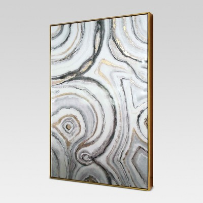 "40"" x 25"" Geode Framed High Gloss Canvas - Project 62™"