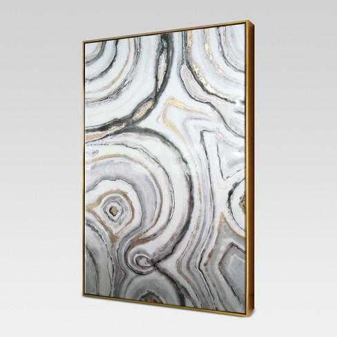 Geode Framed High Gloss Canvas 40\