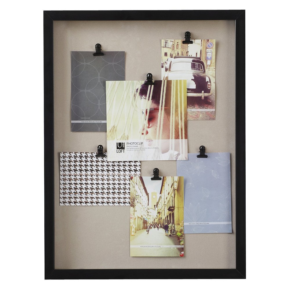 Image of Loft by Umbra 6 Clip Board Frame, Black