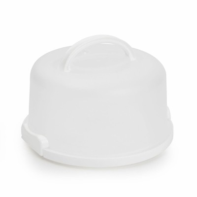 Juvale Round Cake Carrier with Lid and Handle, for 6-8 Inch Desserts (11 x 5.75 In)