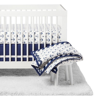The Peanutshell Crib Bedding Set - Sail Away - 5pc - Navy