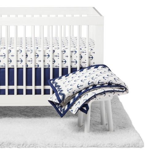The Peanutshell Crib Bedding Set - Sail Away - 5pc - Navy - image 1 of 4