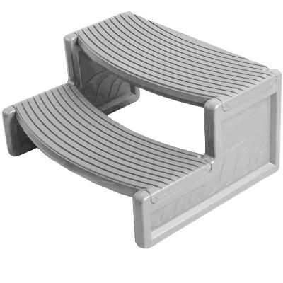 Confer Plastics HS2-G Resin Multi Purpose Spa Hot Tub Handi-Step RV Steps | Gray