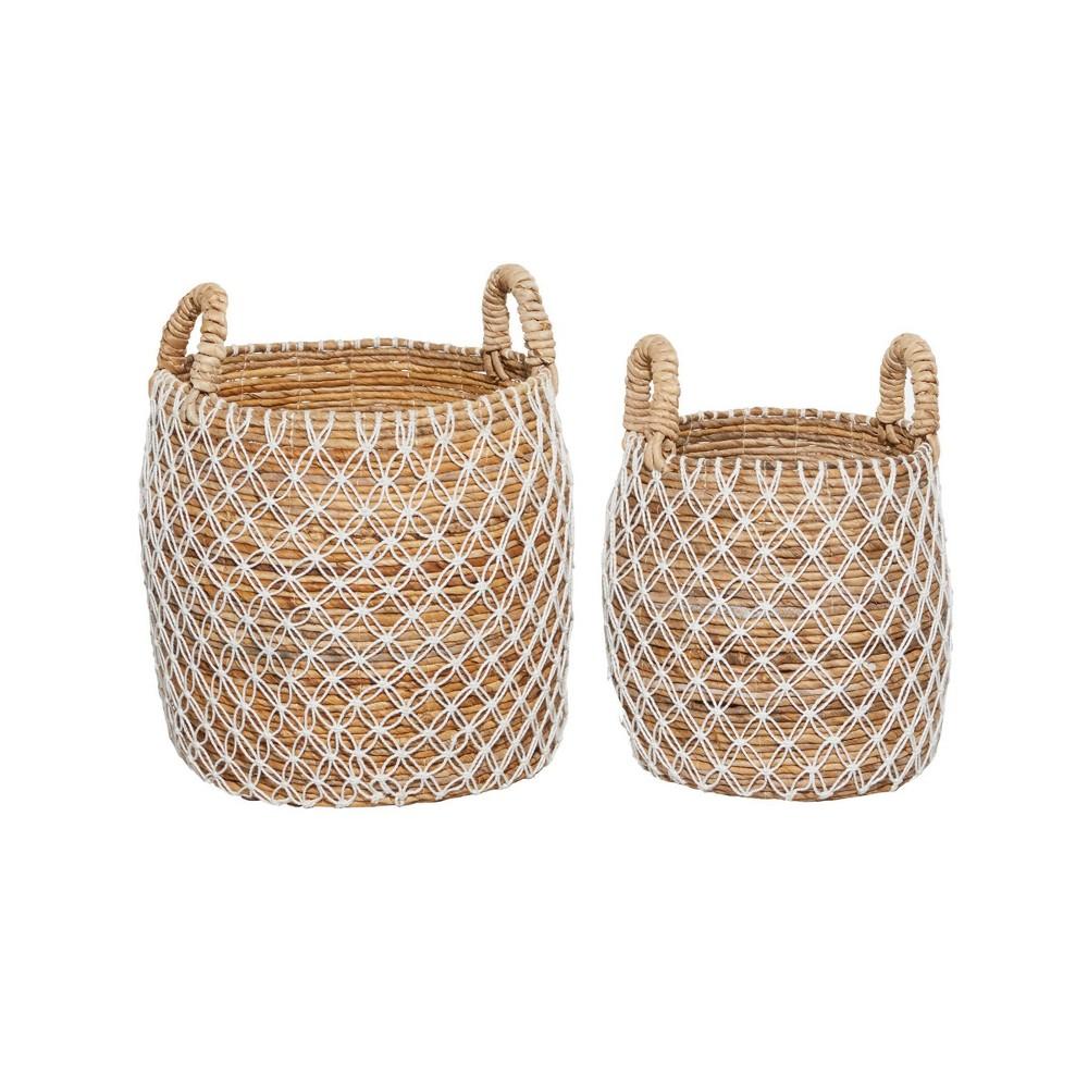 2pk Banana Leaf Storage Baskets Brown