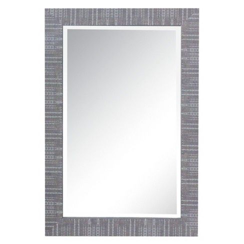 Rectangle Wooden Framed Decorative Wall Mirror - Yosemite Home Decor - image 1 of 1