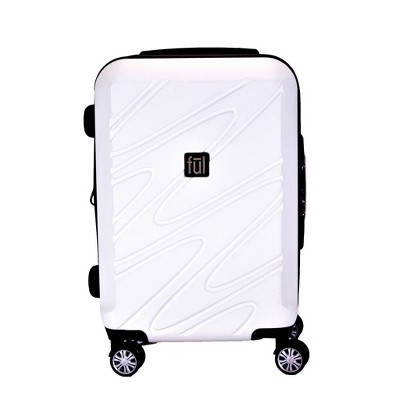 FUL 21  Scribble Hardside Spinner Suitcase - White